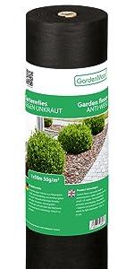 GardenMate 1mx25m Rollo Malla geotextil 50 g/m² - Geotextil para ...