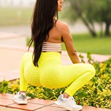 Womens High Waisted Yoga Pants Scrunched Booty Leggings Workout Running Butt Lift Textured Tights