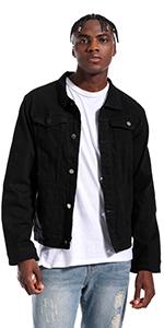 Jean jacket for men denim jacket mens jean jackets for men jean jacket Black jean jacket men