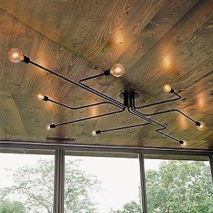 BAYCHEER Industrial Chandelier Recessed Lighting Ceiling