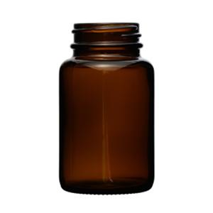 glass amber bottle