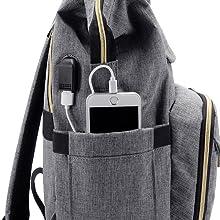damen rucksack laptopfach