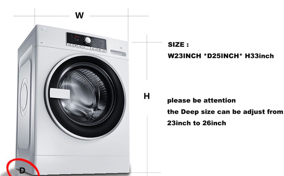 washer cover size