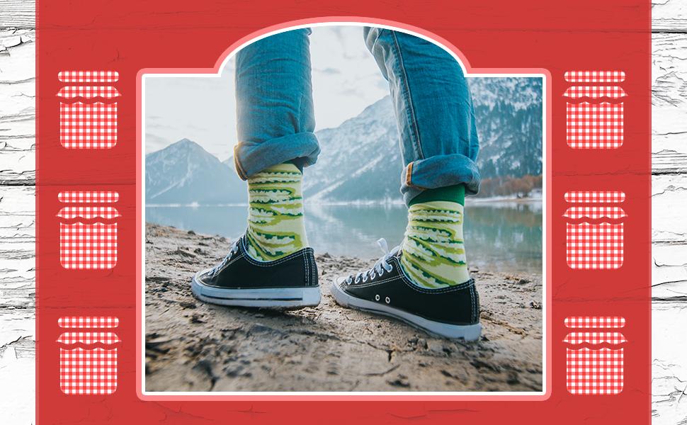 Deliciosos calcetines encurtidos en tus pies