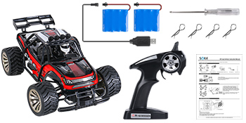1:16 15KM//H RC Gift for 6-12 Years Old Kids Remote Control Car with 2 Battery