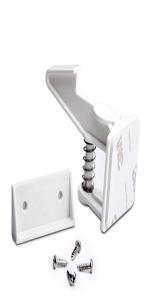 Baby Safety Cabinet Locks 12 Pack white
