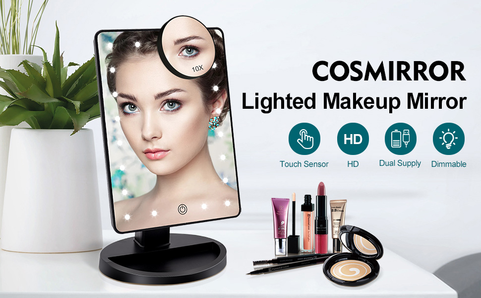 Makeup mirror with 21 LED Lights