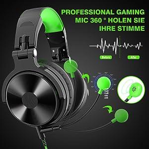 Kopfhörer mit Mikrofon Gaming Headset Over Ear