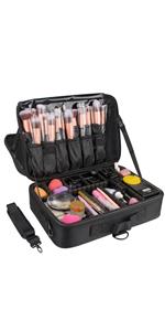 medium makeup case black