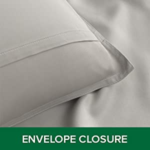 Pillowcases feature an envelope closure to ensure that your pillow stays securely inside all night