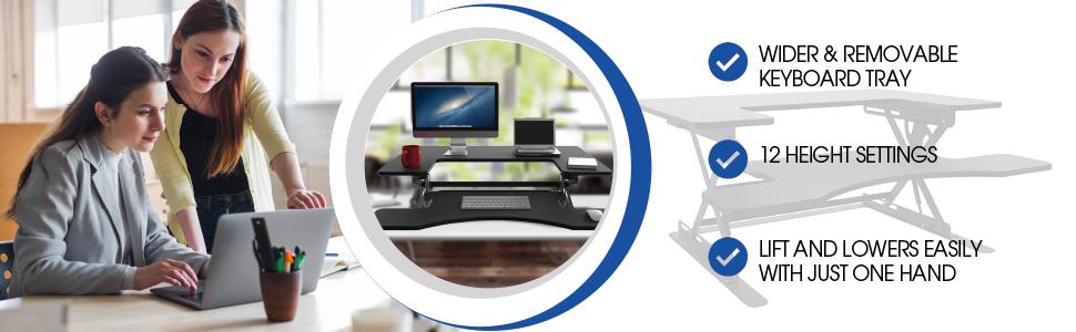 Halter adjustable desk workstation computer table riser