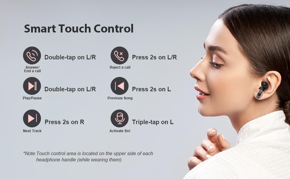 Lermom wireless earbuds P2-02