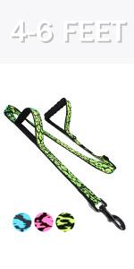 two handles dog leash