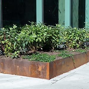 Corten Steel planter live photo