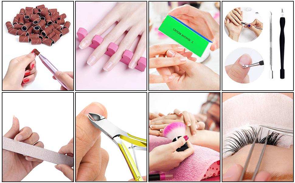 manicure drill nail accessories nail tool kit
