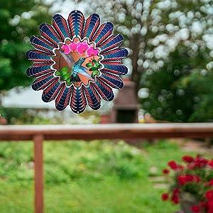 3D kinetic metal wind twirler spinner outdoor large hanging art