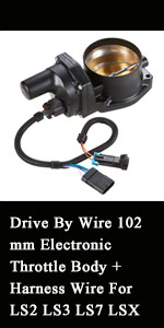 Drive By Wire 102mm Electronic Throttle Body + Harness Wire For LS2 LS3 LS7 LSX