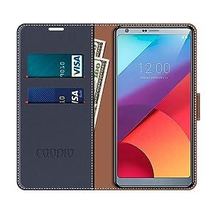 COODIO Funda LG G6 con Tapa, Funda Movil LG G6, Funda Libro LG G6 ...