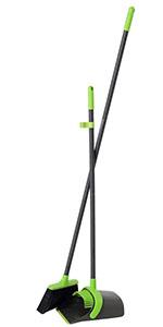 Green Broom and Dustpan Set