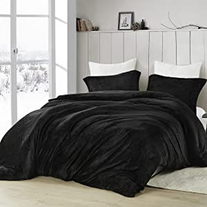 dark black Plush Soft Oversized Extra Large Bedding Baffle Box Duvet Cover Comforter Insert