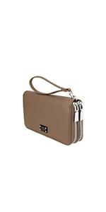 wallet clutch phone case compartment card holder purse wristlet clutch vegan brentano