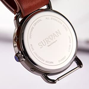 Swiss Sapphire Crystal Quartz Watch
