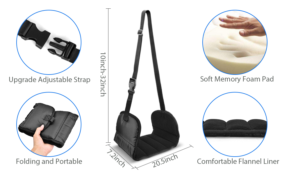 Travel Foot Rest with No Foot Clashing Wider Hammock