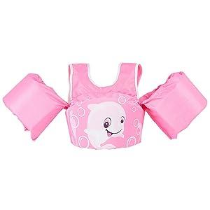 pink swim vest