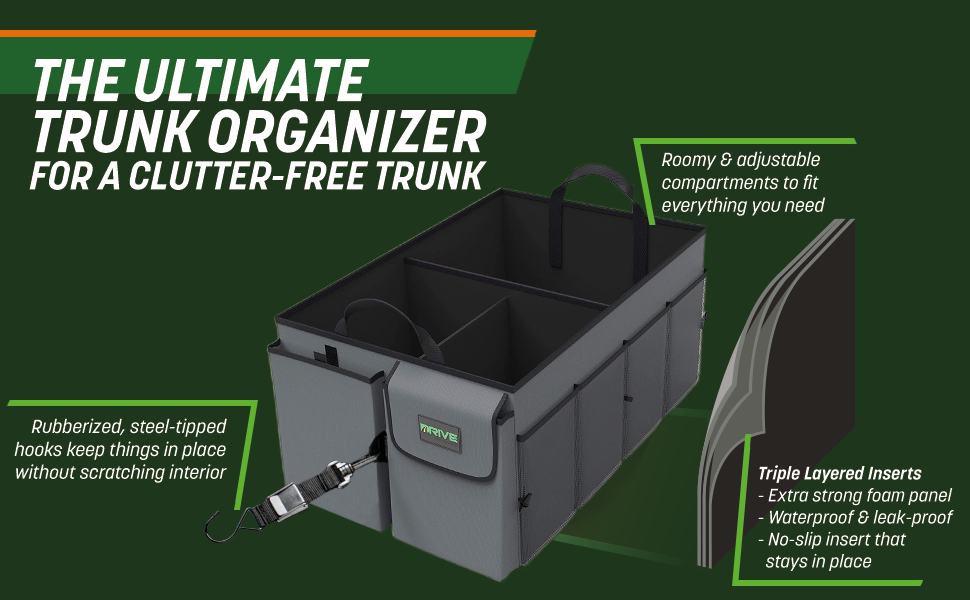 The Ultimate Trunk Organizer for a clutter-free trunk