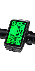 Bike Computer Wireless Waterproof Bicycle Cycle Speedometer and Odometer with Automaticup Backlight