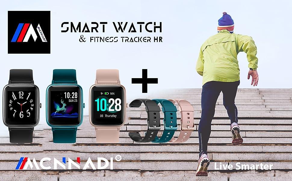 Mcnnadi Smart Watch Fitness Tracker Health Monitor Activity Tracker