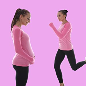 Lwj 1982 Maternity Activewear Workout Clothes Tops Long Sleeve Hiking Yoga Shirts For Pregnant Women At Amazon Women S Clothing Store