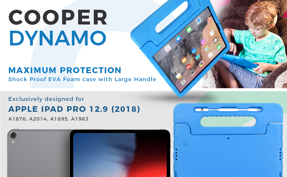 Cooper Dynamo [Rugged Kids Case] Protective Case for iPad