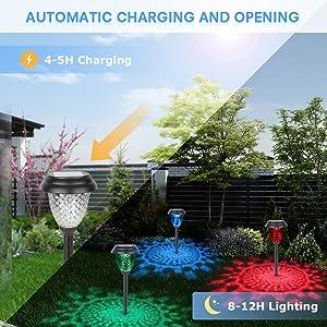 Solar Pathway Lights Garden Yard