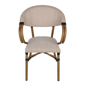 Furniture Chair All-Weather Arm Chair Indoor for Garden/Backyard/Bistro/Cafe