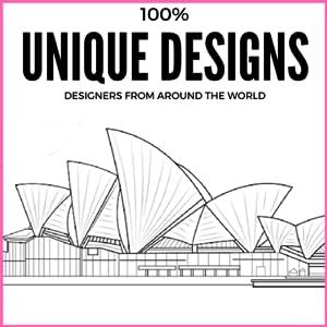 coloring image showing unique designs
