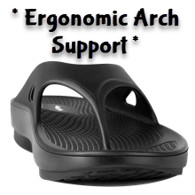 arch support dawgs flip flop flipflop luxfeet foot pain metatarsal comfortable shoes orthotics