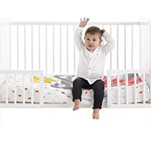 Maxicuna colecho de bebe Indi Max 140x70 + Kit colecho + Colchón HR Morfeo