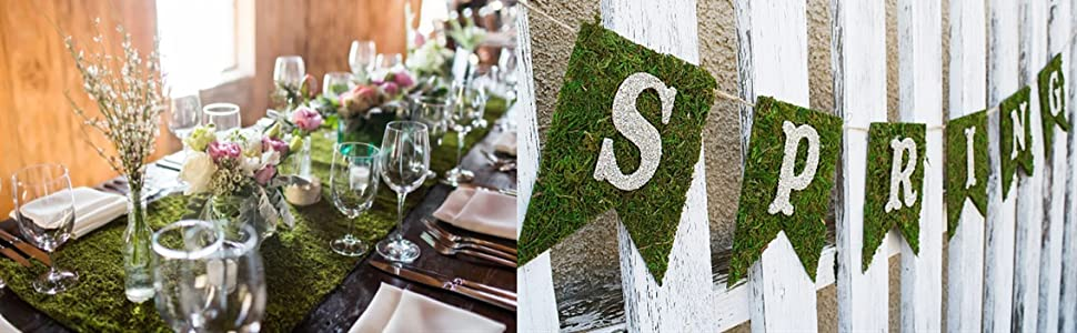DIY MOSS WOODLAND PARTY