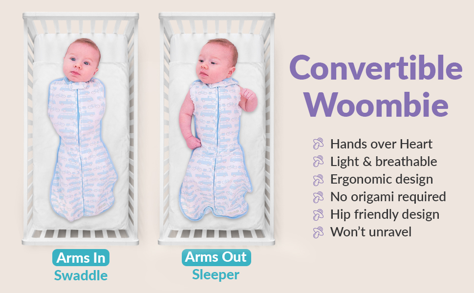 convertible woombie swaddle wearable baby blanket