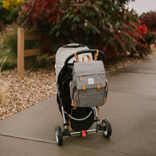 Convenient stroller hooks allow you to hang the bag when out and about