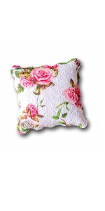 matching accent home decor throw pillow cushion euro covers shams floral pink roses garden pattern