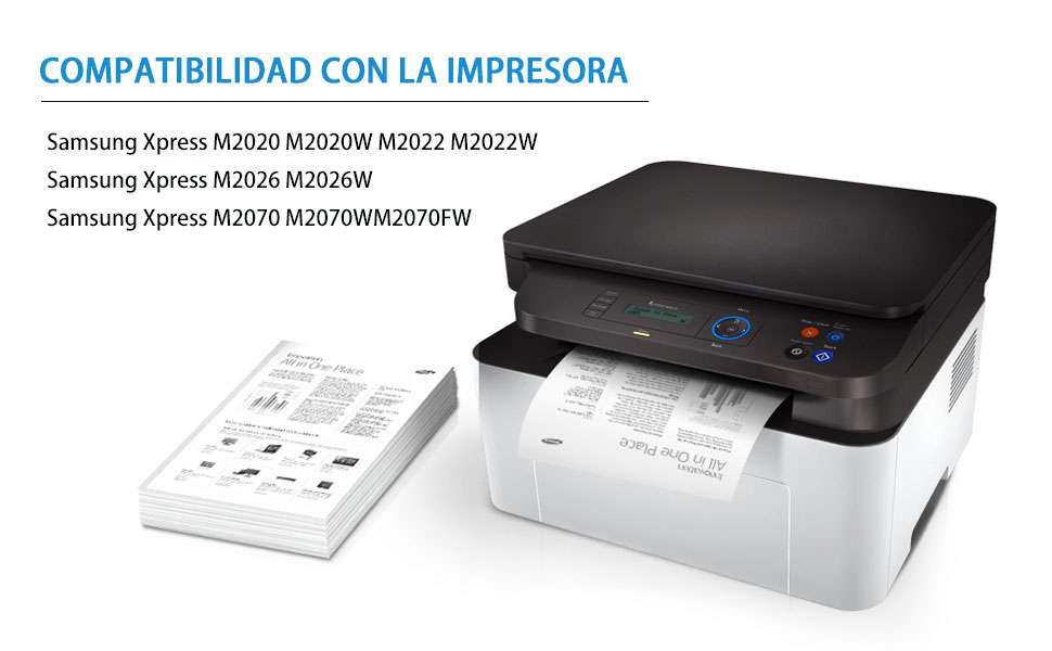 MLT-D111L MLT-D111S(con Chip) Cartucho de Tóner, 2 Paquetes ...