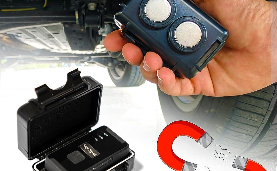 gps tracker box gps magnetic case waterproof weatherproof strong magnet small black box