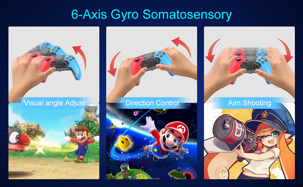 Controller for Switch 6-Axis Gyro Somatosensory