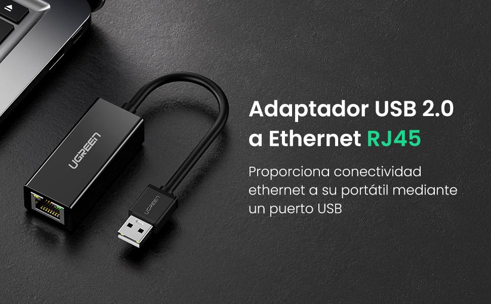UGREEN Adaptador USB a Ethernet RJ45, Adaptador Tarjeta de red Lan ...
