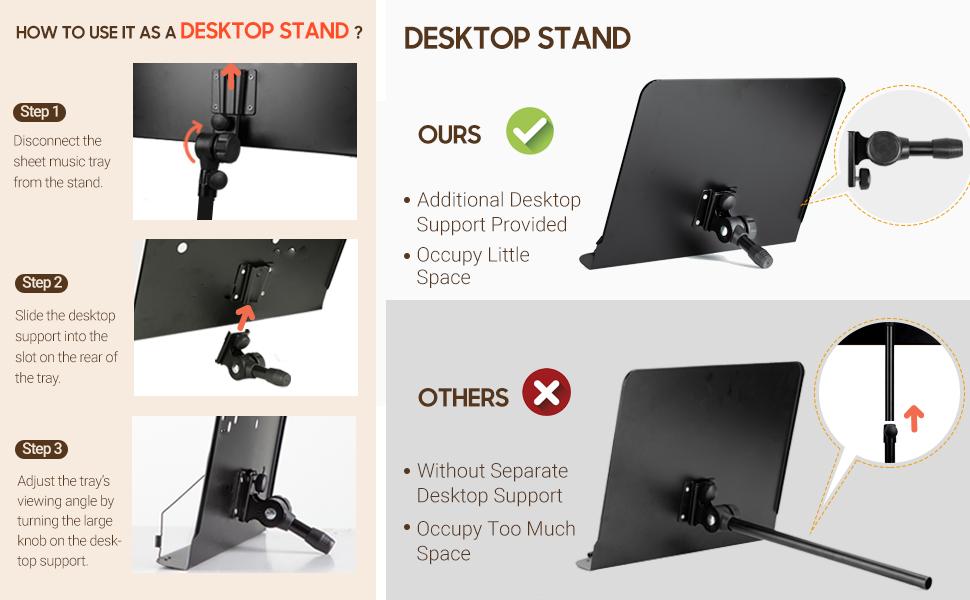 sheet music stand desktop music stand