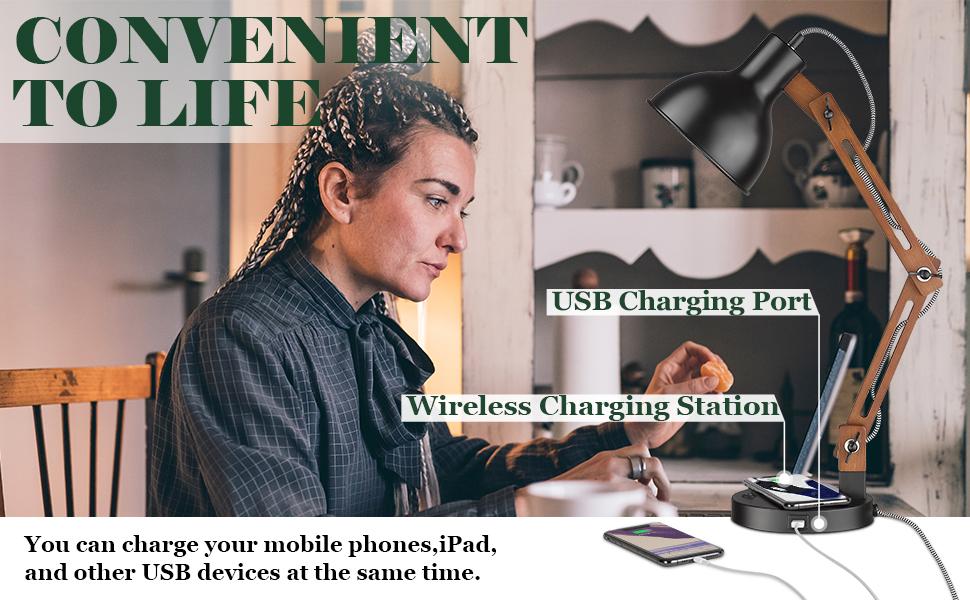 USB Charging Port & Wireless Charging Station