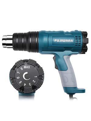 barniz Pistola de calor 2000W Kit de pistola de aire caliente Enchufe enchufe europeo 350-550 ℃ con 2 modos de velocidad y 4 boquillas para eliminar pintura PVC retr/áctil manualidades y DIY