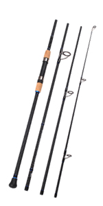 4-Piece Surf Spinning/Casting Fishing Rod Portable Carbon Fiber Travel Fishing Rod